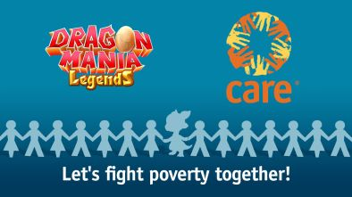 Dragon Mania Legends CARE partnership logo