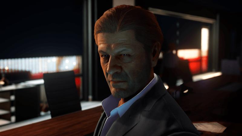 A Screenshot of Sean Bean as Mark Faba in Hitman 2