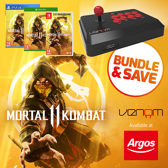 Mortal Combat and Multi Arcade Fighting Stick Bundle from Argos