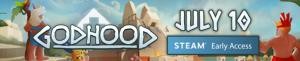 Godhood Launch banner