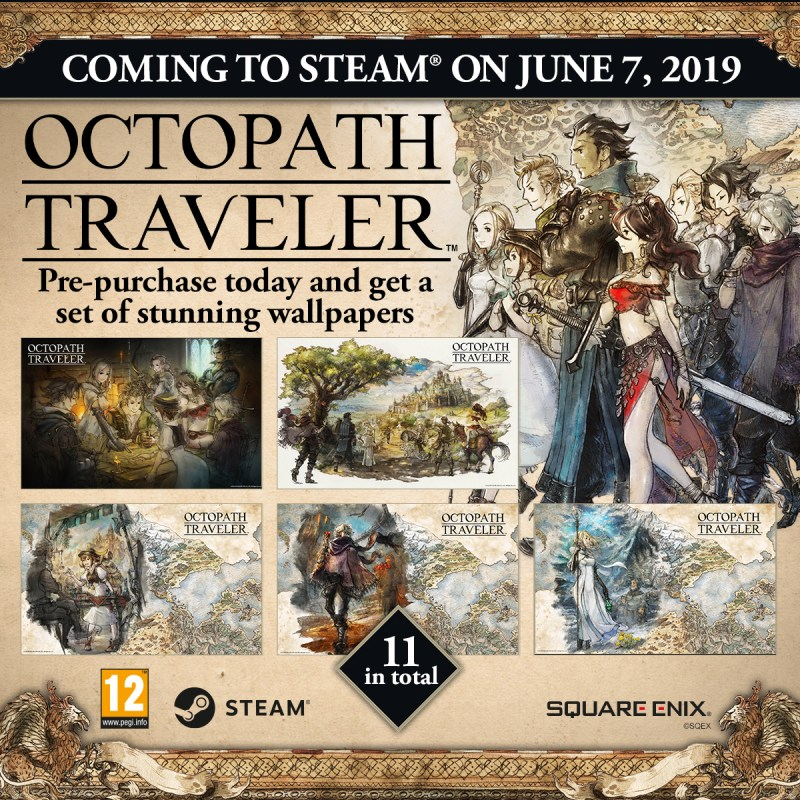 Octopath Traveler pre-purchase now available poster