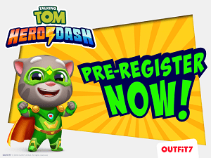 Outfit7 have opened pre-registration for their new mobile title Talking Tom Hero Dash