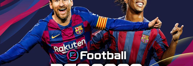 Konami eFootball PES 2020 - FC Barcelona cover with Messi and Ronaldinho