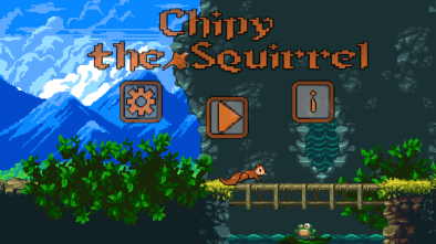 Chipy the Squirrel start screen