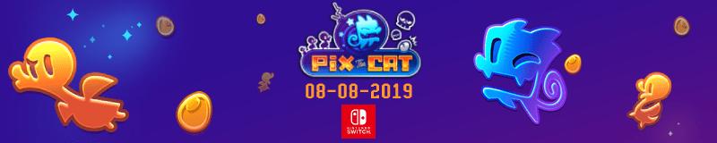 Pix the Cat logo banner