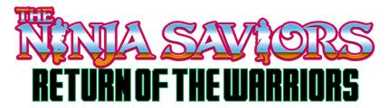 THE NINJA SAVIORS - Rise of the Warriors logo