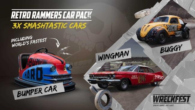 Wreckfest Retro Rammers Car Pack Bumper Car, Wingman and Buggy
