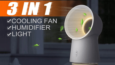 Xiaomi Youpin 3-in-1 Mini Cooling Fan features