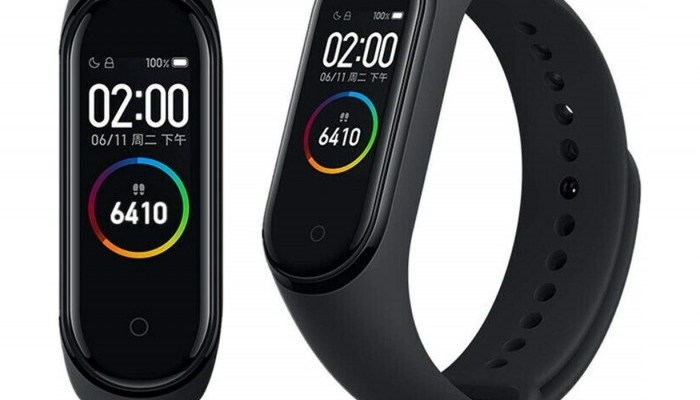 Xiaomi Mi Band 4 front and side facing