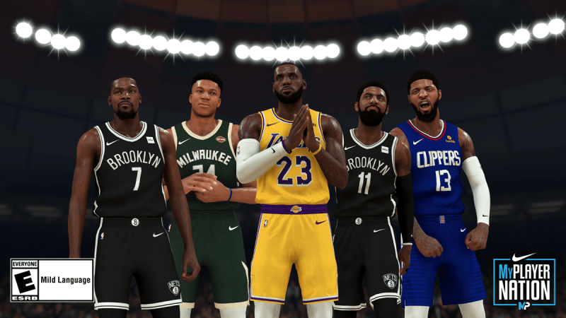 NBA 2K20 screenshot of players
