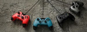 Gioteck WX4 Controllers in red, blue, black and grey