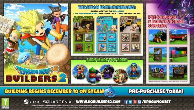DRAGON QUEST BUILDERS 2 pre-order poster