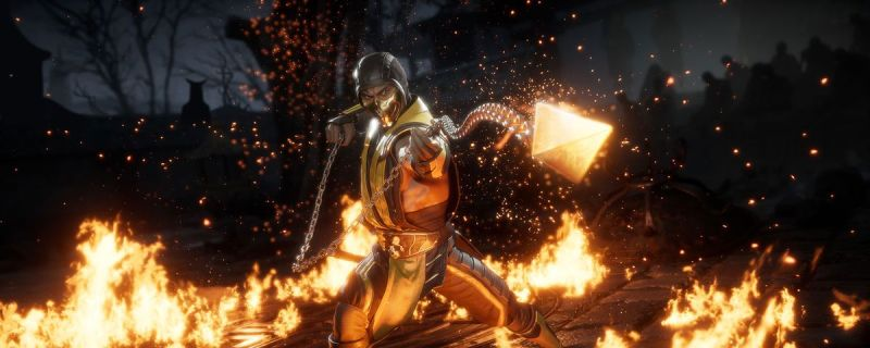 MK11 Scorpion on Stadia - Tell your Valentine to get over here