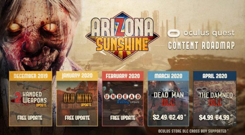 Arizona Sunshine Content Roadmap for Oculus Quest