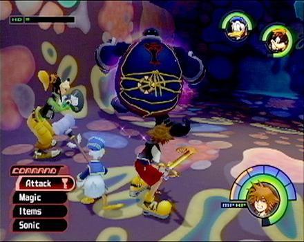 Kingdom Hearts PS2 gameplay
