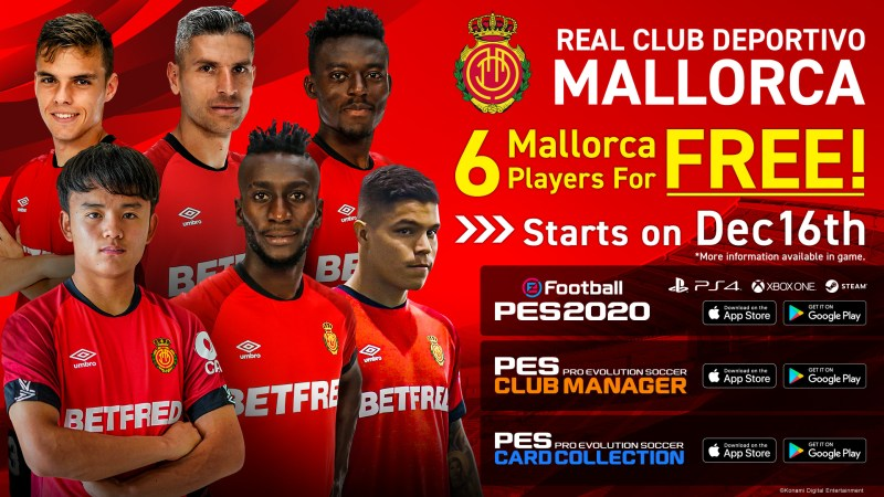 RCD Mallorca joins eFootball PES 2020 Partner Club Roster - 6 Free Players