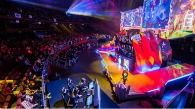 esports audience and stage
