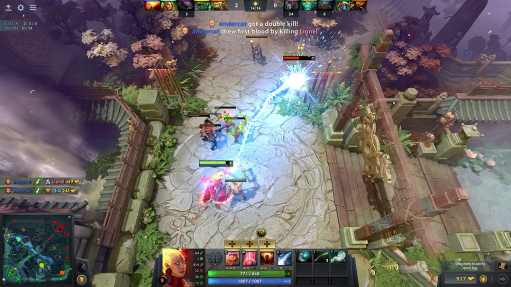 Gameplay from one of the most popular games in esports, DotA 2
