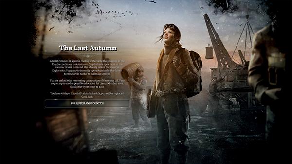 The Last Autumn DLC opening