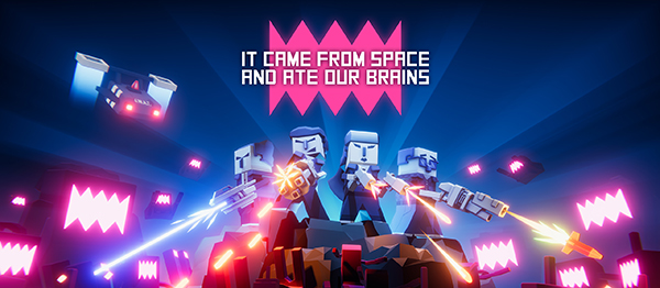 It came from space, and ate our brains logo and artwork