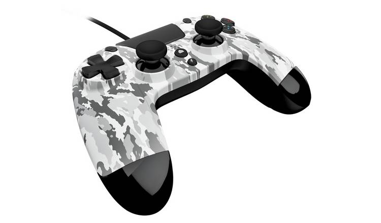 Arctic-camo VX4 controller for the PS4 from side-view