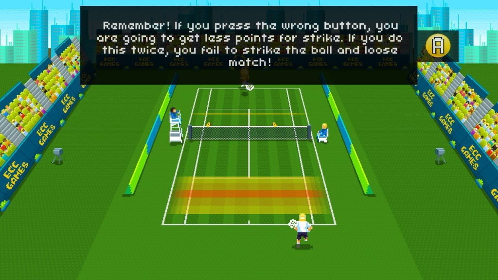 Super Tennis gameplay on the court