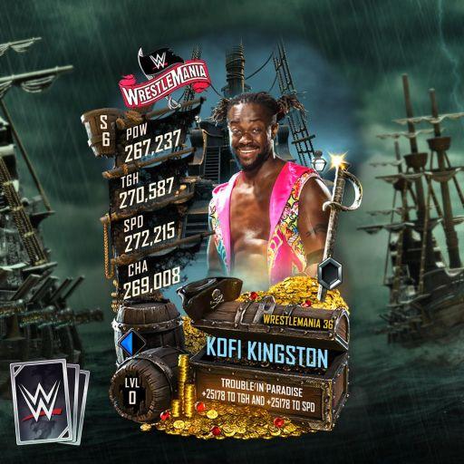 WWE SuperCard Wrestlemania 36 Kofi Kingston