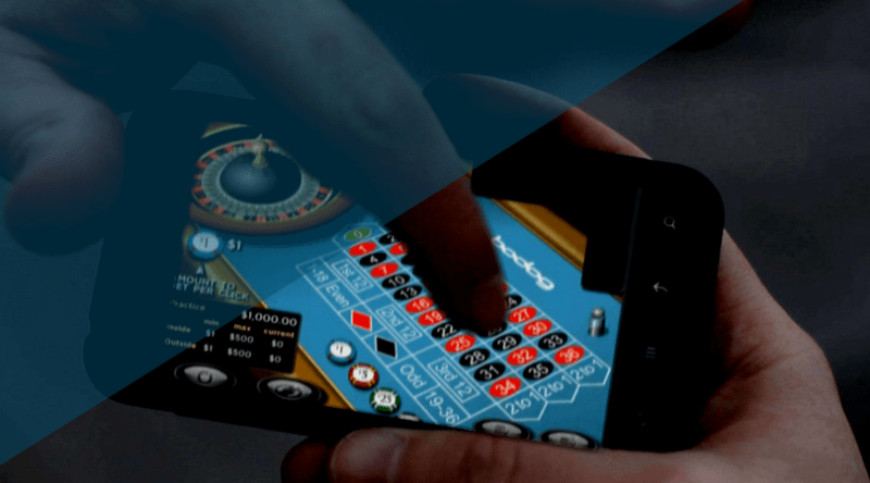 iGaming on a mobile phone playing roulette