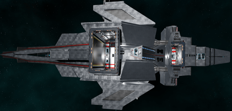 Outside look of a space station