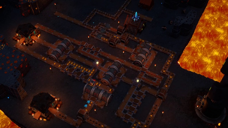 DwarfHeim gameoplay showing a camp being built