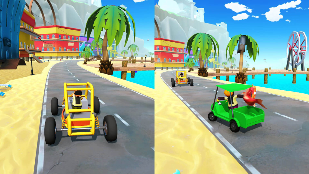 Totally Reliable Delivery Service splitscreen gameplay