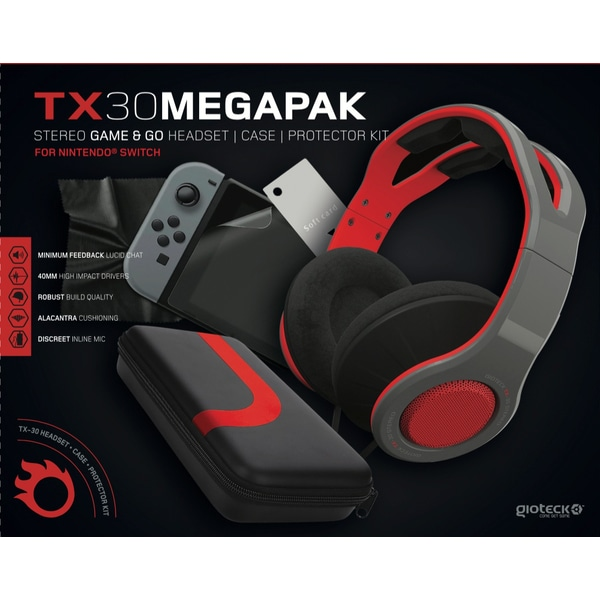 Gioteck TX30 Switch Gaming Pack full contents