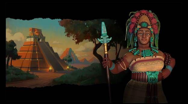 Lady Six Sky of the Maya Civilization
