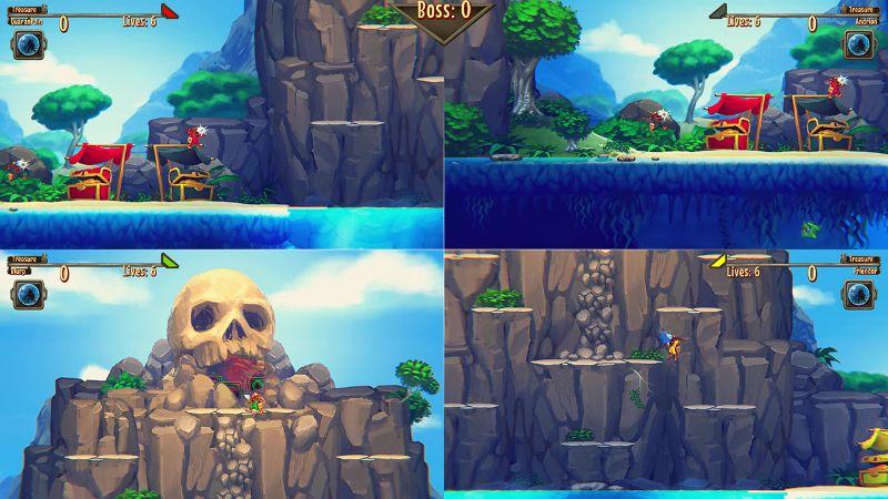 Aqua Lungers SplitScreen Gameplay