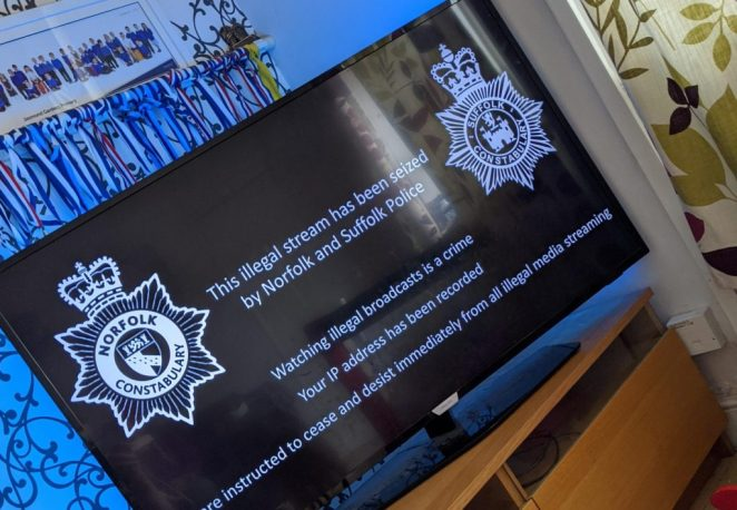 IPTV Not working with Police message