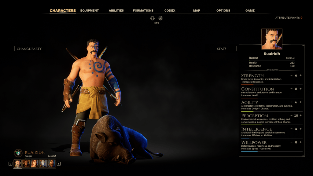 Animal Companions come to The Waylanders - Ranger celt with Wild Boar