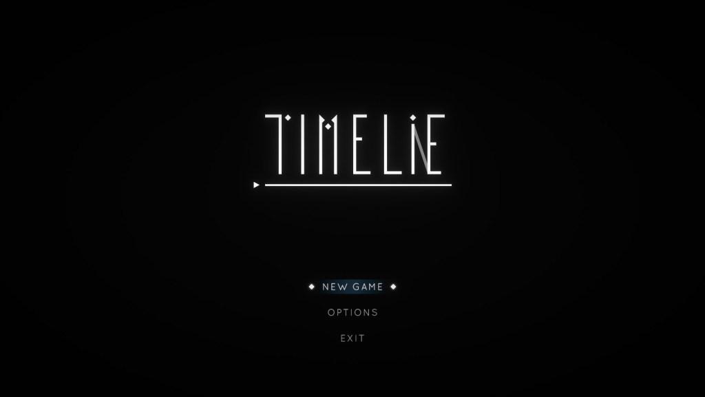 Timelie Start Screen