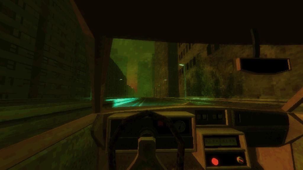 Paratopic artwork inside a car