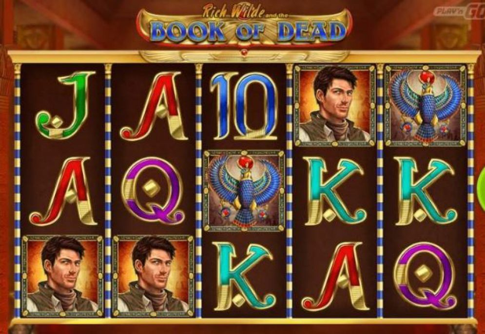 Book of Dead slots with a win line