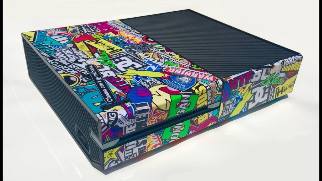 Stickerbombed Xbox One Console