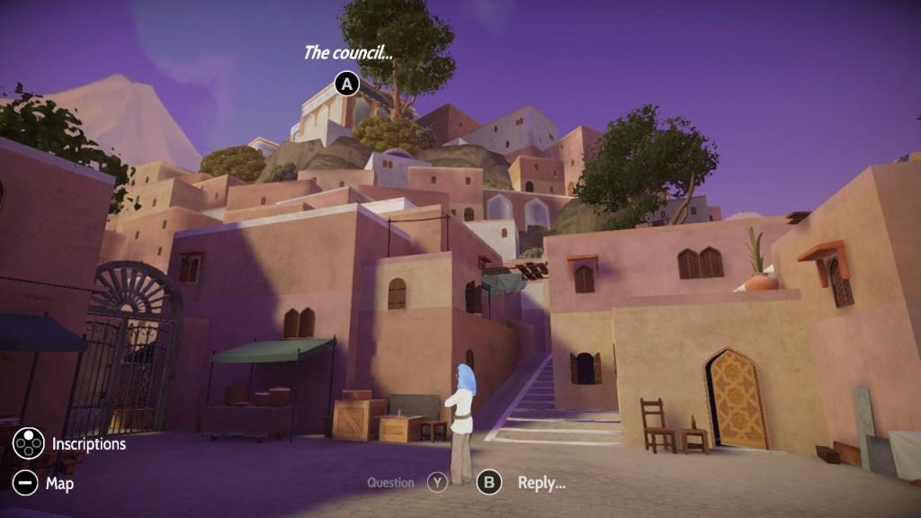 Heaven's Vault Switch gameplay