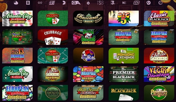 Online Blackjack Games selection