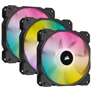 CORSAIR SP RGB ELITE Fan Series lit up