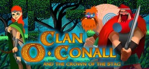 Clan O'Conall and the Crown of the Stag logo