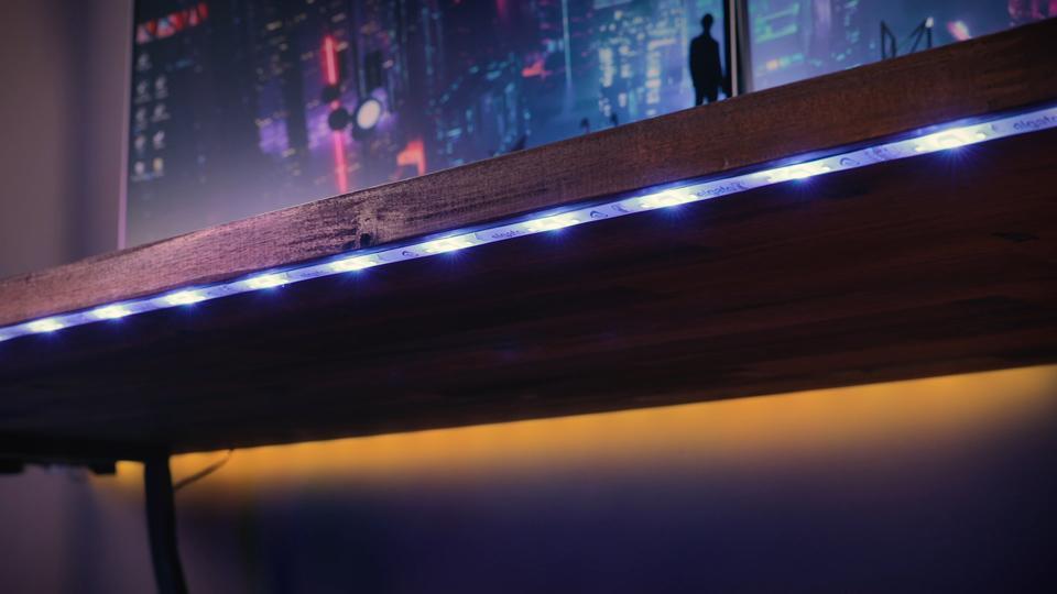 Elgato Light Strip Under Desk