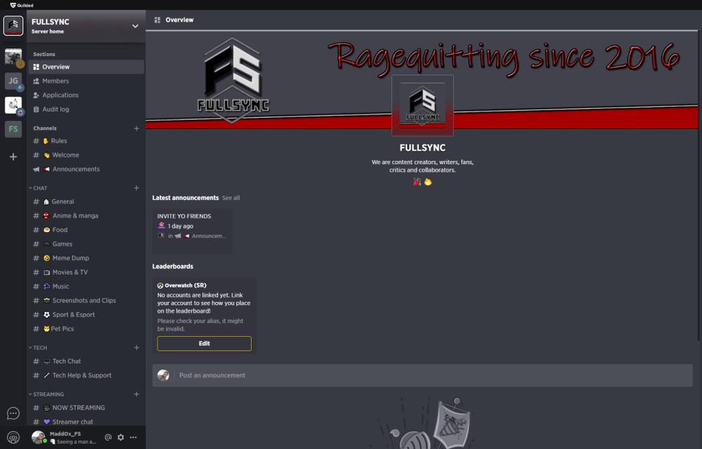 FULLSYNC Guilded Server