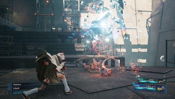 Final Fantasy VII Remake Intergrade combat gameplay