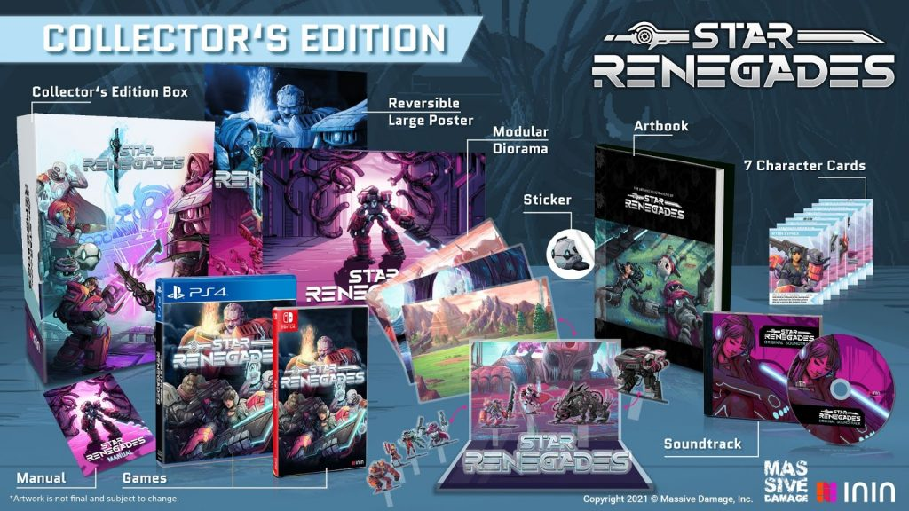 Star Renegades Collector's Edition contents