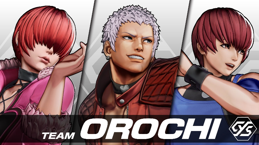 The King of Fighters TEAM OROCHI characters; Chris, YASHIRO NANAKASE, Shermie