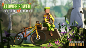 Lonely Mountains: Downhill - Daily Rides Season 6: Flower Power logo
